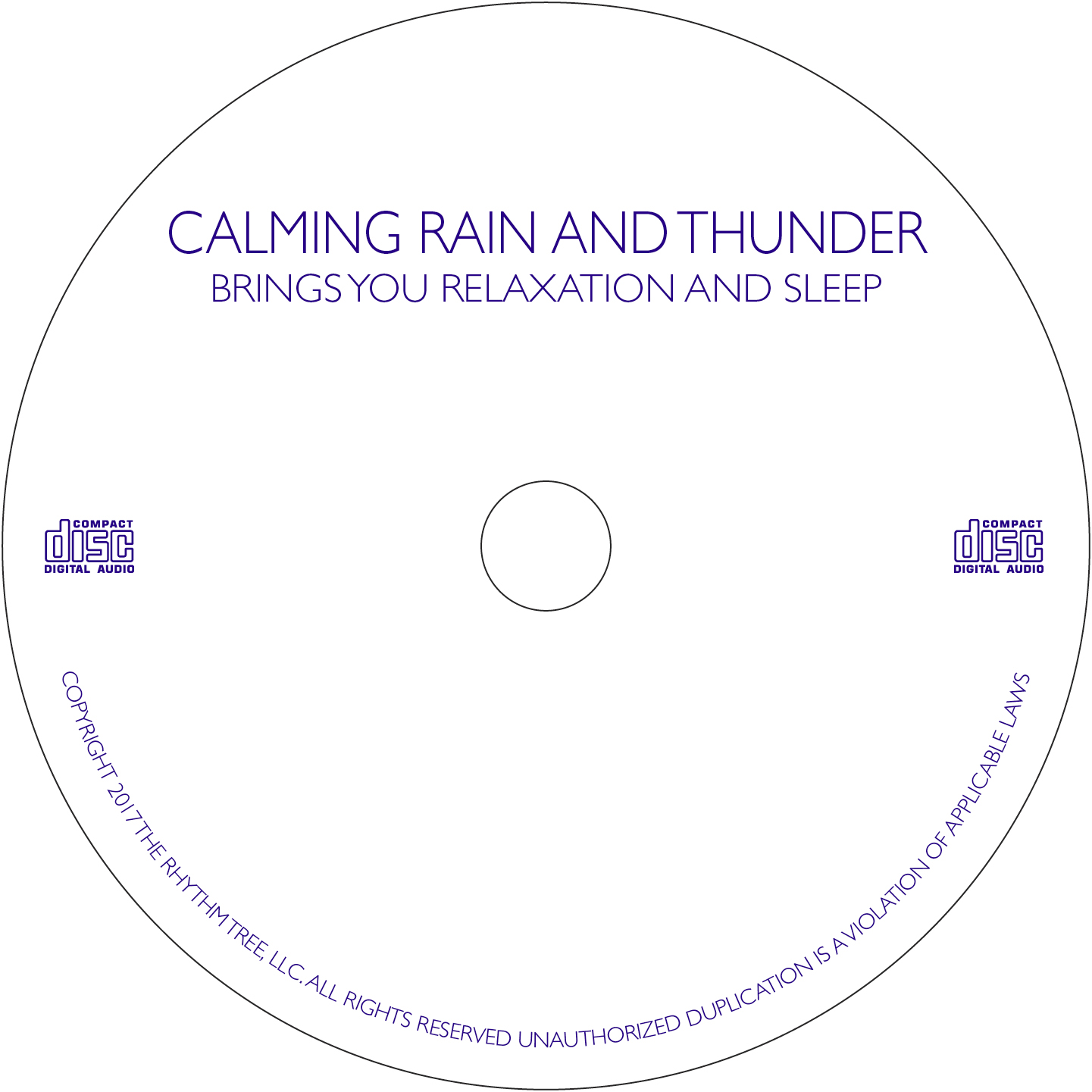 Calming Rain & Distant Thunder - Instant mp3 Download - Restful Sounds